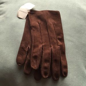 COACH•100% LEATHER GLOVES•MENS